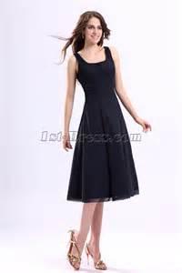 square chiffon tea length little black dress 1st dress com