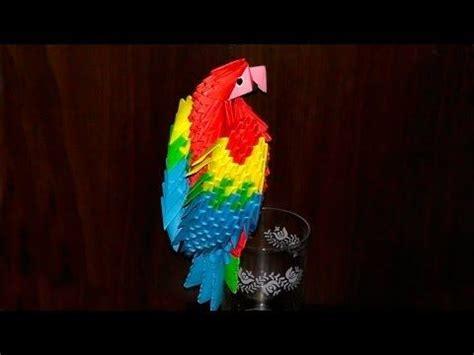 Origami Macaw Parrot - 3d origami macaw parrot tutorial