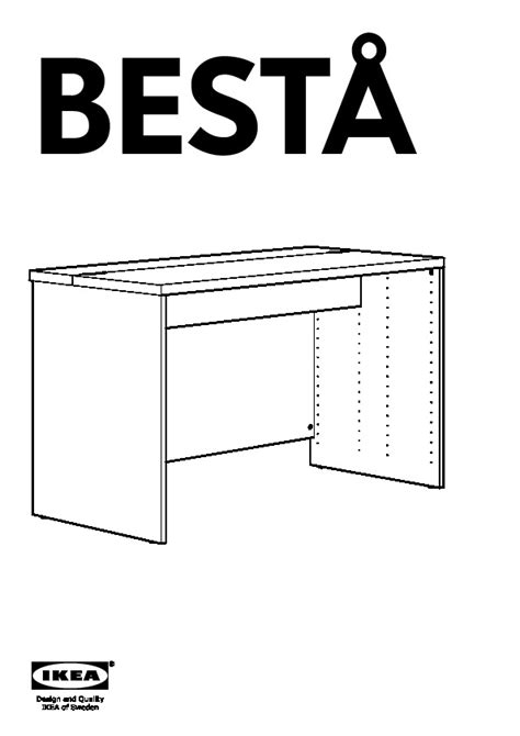 besta assembly instructions best 197 bureau brun noir ikea france ikeapedia