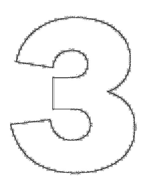 coloring page of the number 3 coloring pages numbers 3 quot three quot