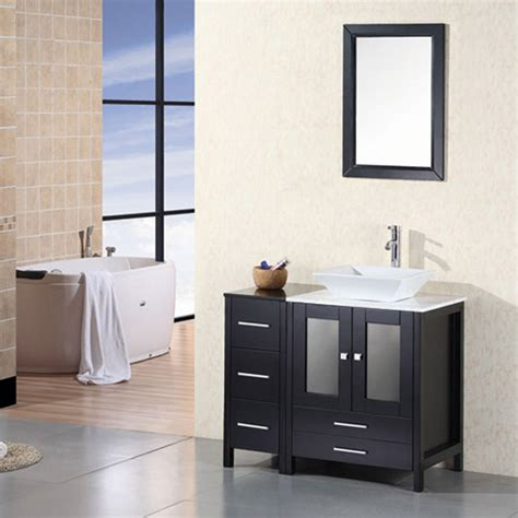 Modern Single Sink Bathroom Vanities Ballard 36 Quot Single Sink Vanity Set Zuri Furniture