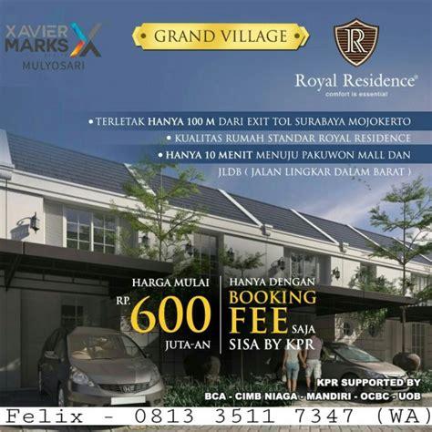 rumah  jutaan royal residence surabaya barat