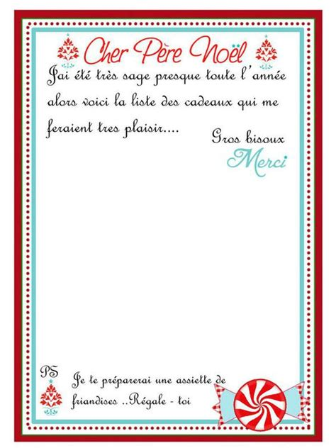Exemple De Lettre Du Pere Noel Lettre Au P 232 Re Noel Assistante Maternelle Argenteuil Orgemont