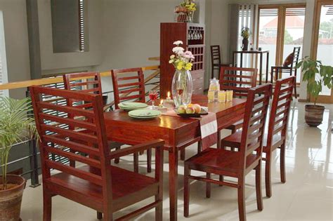 Comfortable Dining Room by Mahogany Wood Furniture At The Galleria