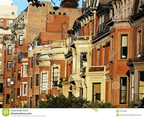 elegant home in boston s back bay traditional home backbay boston houses stock photo image of historic