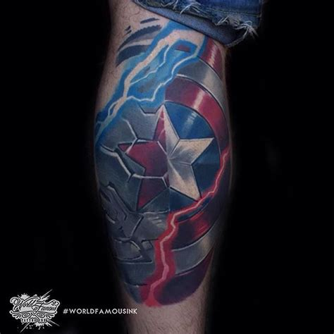 captain america shield tattoo 25 best ideas about captain america on