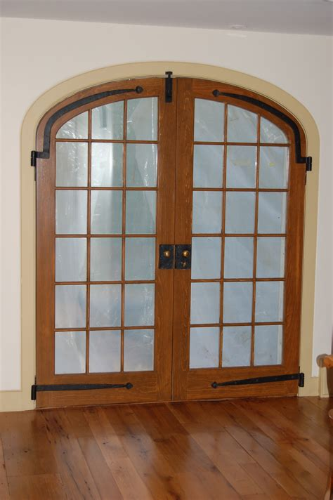 cool door interior on custom built wood