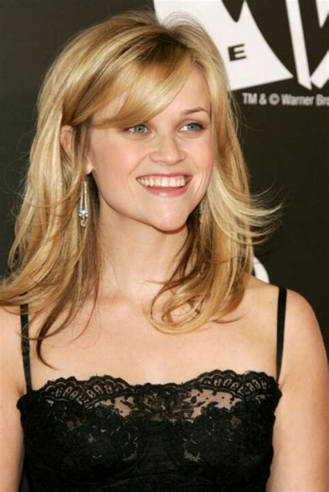 shoulderlength hairstyles could they be put in a ponytail the different reese witherspoon hairstyles with bangs