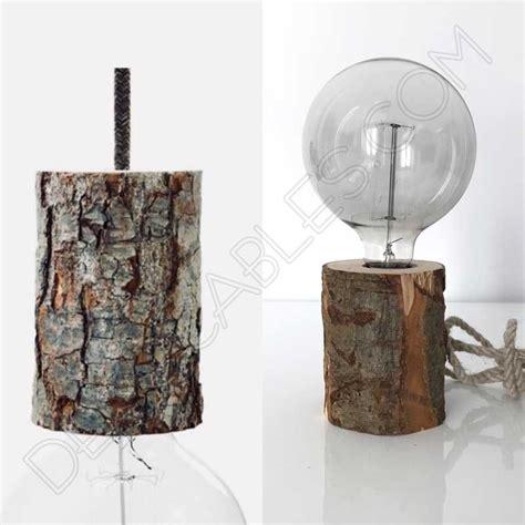 lampara de mesa corteza de arbol perfecta  iluminacion