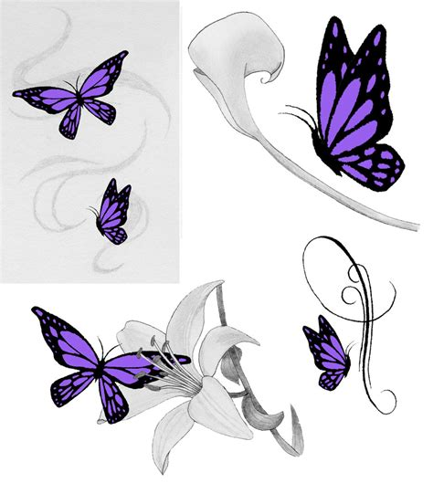 purple tattoo designs purple butterfly tattoos by jess wood on deviantart