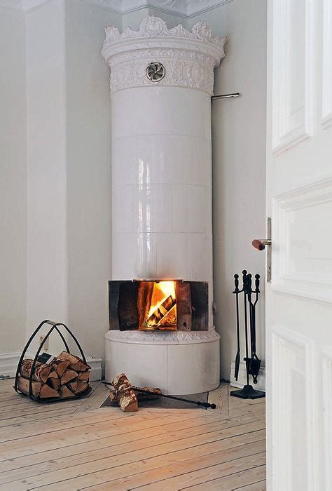 swedish fireplace swedish tile stove fire pinterest