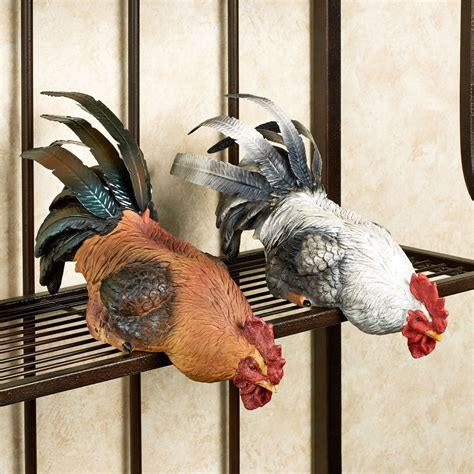 Chicken Shelf by Rooster Shelf Sitter Set