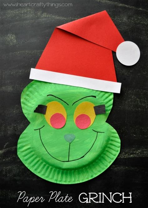 Paper Plates Craft - paper plate grinch craft i crafty things