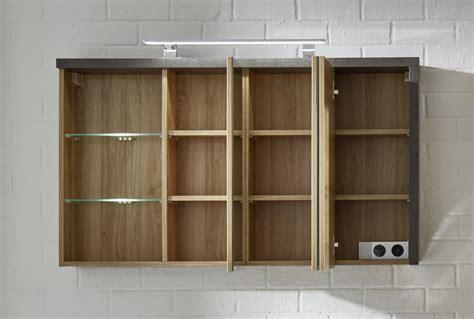 spiegelschrank bay 3 t 252 rig eiche und beton design