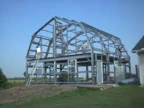 steel gambrel home building kit 2 floor 3600 sq ft gambrel style wood barn kit post and beam barn kit