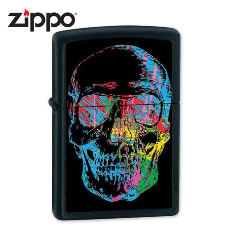 spray paint zippo zippo x skull black matte lighter kennesaw cutlery