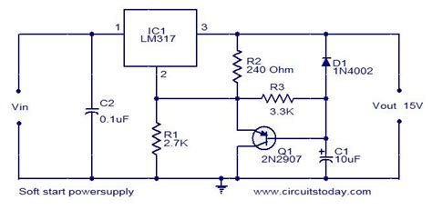 soft start power supply circuit electronic circuits and