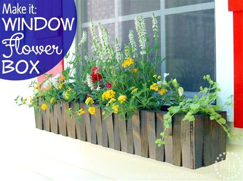 how to make a window box make it window flower box the scrap shoppe