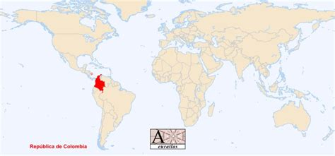 colombia on a world map world atlas the sovereign states of the world colombia