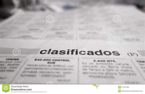 Classified Section Of Newspaper by Newspaper Classified Section Stock Photo Image 51154798