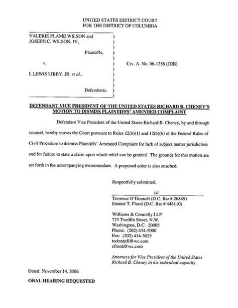 file defendant cheney s motion to dismiss pdf wikimedia