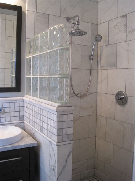 Glass Block Showers Small Bathrooms Wall Glass Block Bathroom Fleut For The Home Pinterest