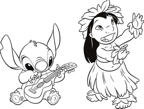 Coloriage Disney Stitch Et Lilo