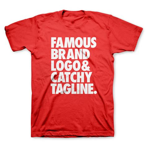 Tshirt Brand words brand t shirts the coolector