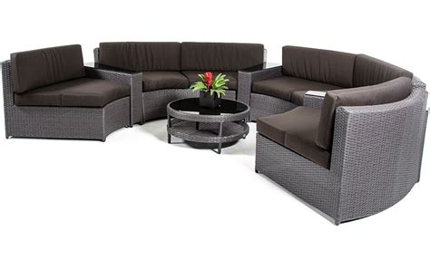round patio sectional zuma wicker round outdoor sectional set with coffee table