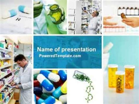 free pharmacy powerpoint templates pharmacy collage powerpoint template by poweredtemplate