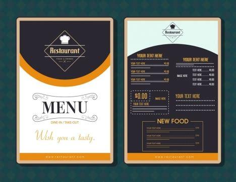 Restaurant Menu Template Modern Black White Decor Vectors Stock In Format For Free Download 2 96mb Black Menu Template