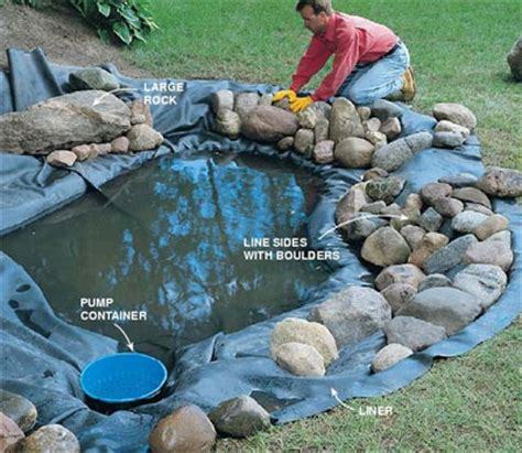 How To Build A Backyard Pond by Water Gardening Building A Water Garden