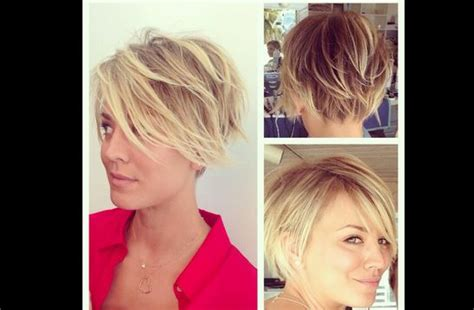 new hair in big kaley cuoco s short hair stylin short hair pinterest