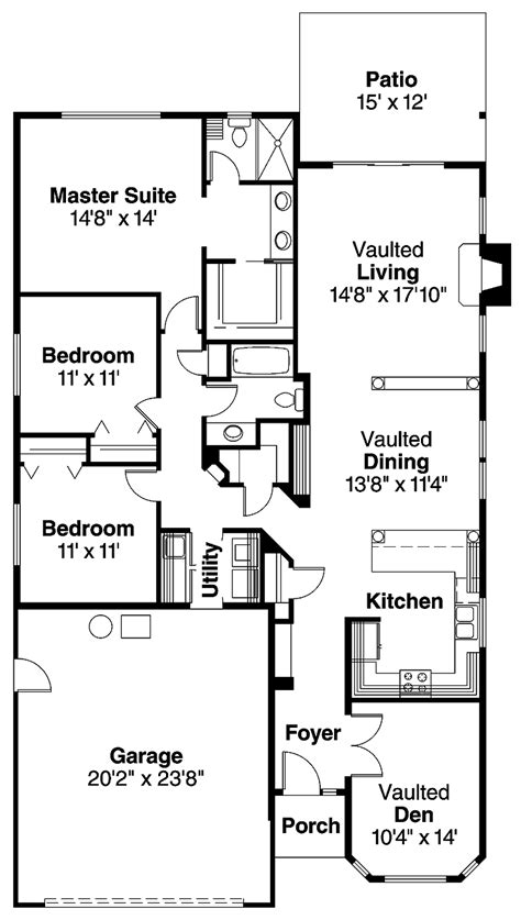 three bedroom bungalow floor plan beautiful 3 bedroom bungalow house plans for hall kitchen