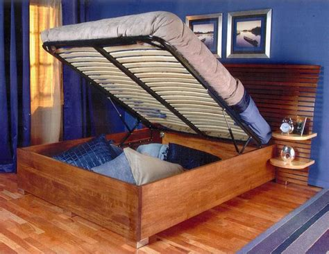 diy platform bed lift kit  bedroom storage solution