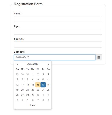 jquery date format php bootstrap datepicker date format phpsourcecode net