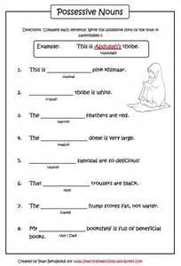 possessive nouns worksheet iman s home