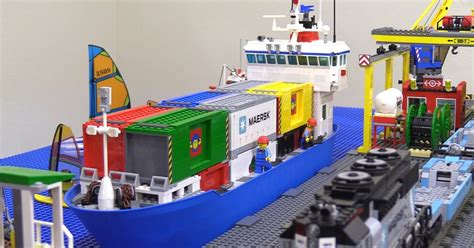 lego cargo boat sets lego container ship moc complete