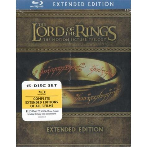the lord of the rings trilogy extended edition on blu ray the lord of the rings the motion picture trilogy