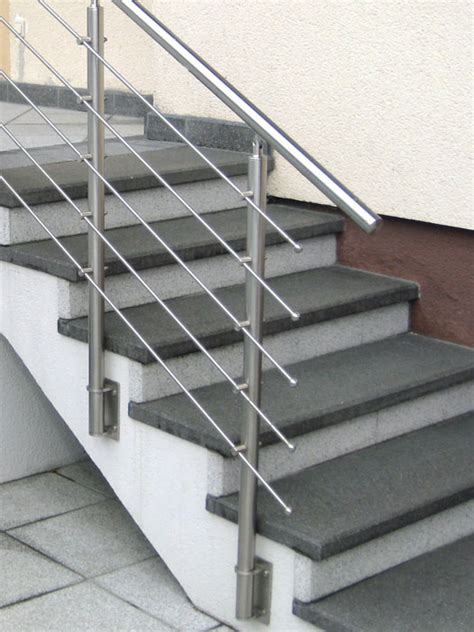 Banister Rail by Banister End For Stainless Steel Handrails