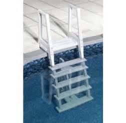 Pool steps pool ladders amp pool decks above ground pool steps amp pool