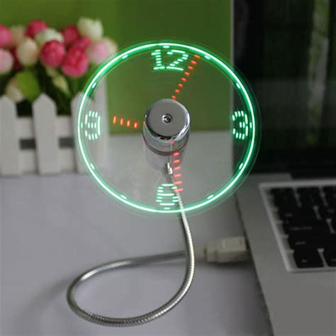 Mini Fan Senter Led Best Quality new durable adjustable usb gadget mini led light usb fan time clock desktop clock cool