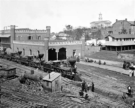 11x14 civil war photo nashville tn railroad depot with