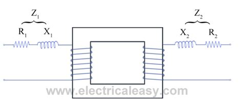 transformer impedance resistance reactance transformer with resistance and leakage reactance electricaleasy