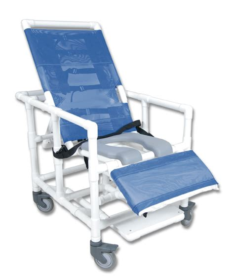 Reclining Shower Commode Chair by Pvc Reclining Shower Commode Chairs Shower Commode Chairs