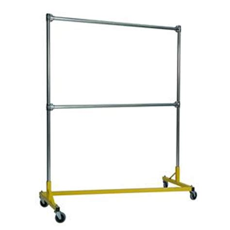 Portable Clothing Rack by Heavy Duty Portable Clothes Rack 5ft Rail In