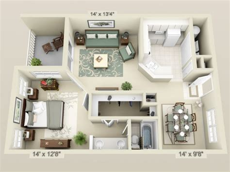 2 schlafzimmer haus blueprints apartment 3d floor plans 3d floor plan image 2 for the 1