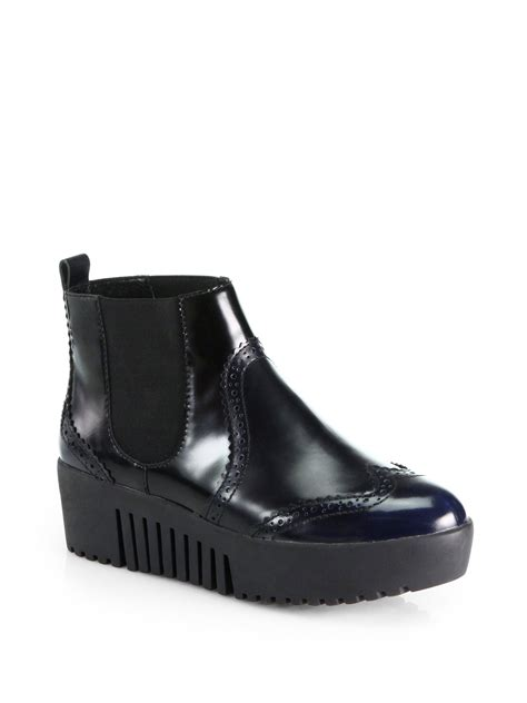 opening ceremony spectator leather platform chelsea boots