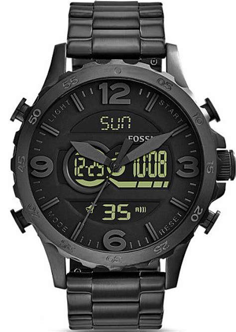 s fossil nate analog digital chronograph jr1507