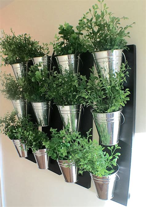 Indoor Planters by Vertical Indoor Wall Planter With Galvanized Steel Pots